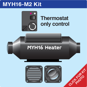 MYH16 Marine + 2 hot air outlets