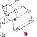 11) Support (mounting bracket)