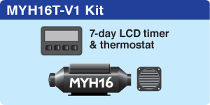 MYH16T Vehicle + 7-day LCD Timer + 1 hot air outlet